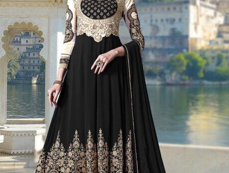 Black-party-wear-festival-dress-embroidered-women-anarkali-suit-RS2313
